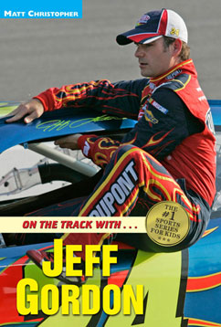 Cover for On the Track with...Jeff Gordon