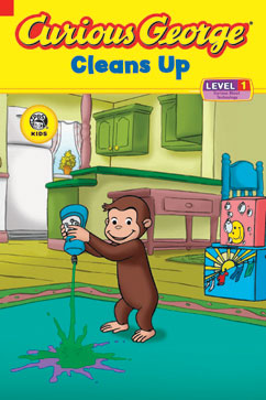 Cover for Curious George Cleans Up