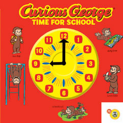 Cover for Curious George Time for School