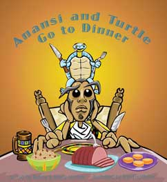 Cover for Anansi and Turtle Go to Dinner