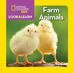 Cover for National Geographic Kids Look and Learn: Farm Animals