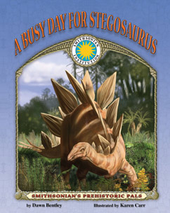 Cover for A Busy Day for Stegosaurus