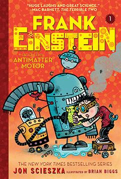 Cover for Frank Einstein and the Antimatter Motor (Frank Einstein series #1)
