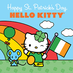 Cover for Happy St. Patrick's Day, Hello Kitty