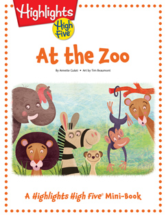Cover for At the Zoo: A High Five Mini Book