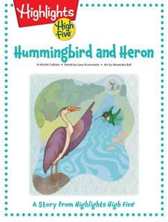 Cover for Hummingbird and Heron