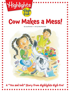 Cover for Cow Makes a Mess