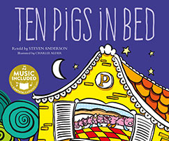 Cover for Ten Pigs in Bed