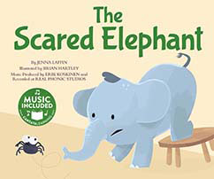 Cover for The Scared Elephant