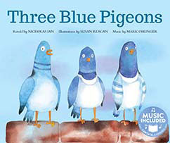 Cover for Three Blue Pigeons