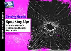 Cover for Speaking Up: An interview about reporting and healing from abuse