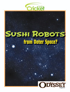 Cover for Sushi Robots from Outer Space