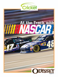 Cover for At the Track with Nascar